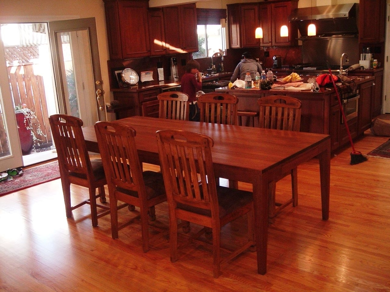 Latest Mahogany Dining Table Sets In Hand Crafted Suzanne's 8 Foot Long African Mahogany Dining Table (View 4 of 25)