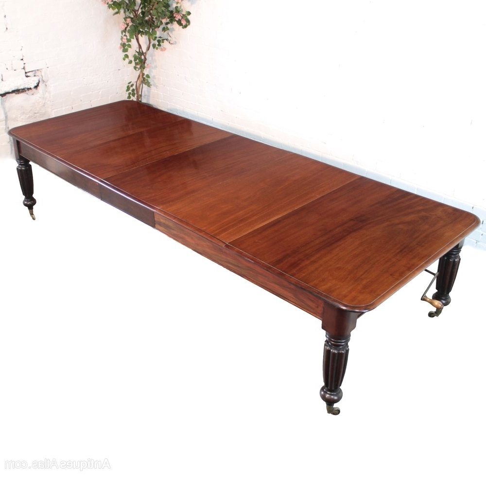 Latest Mahogany Extending Dining Tables Throughout Regency Mahogany Extending Dining Table, 10Ft7 – Antiques Atlas (View 8 of 25)