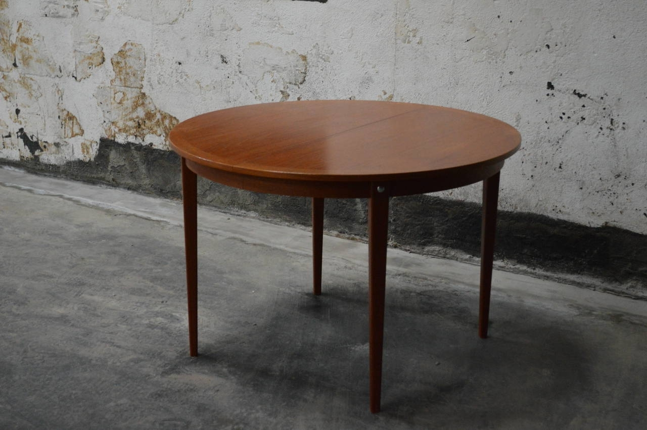 Latest Mid Century Modern Round Swedish Teak Dining Table For Sale At 1Stdibs Within Round Teak Dining Tables (View 3 of 25)