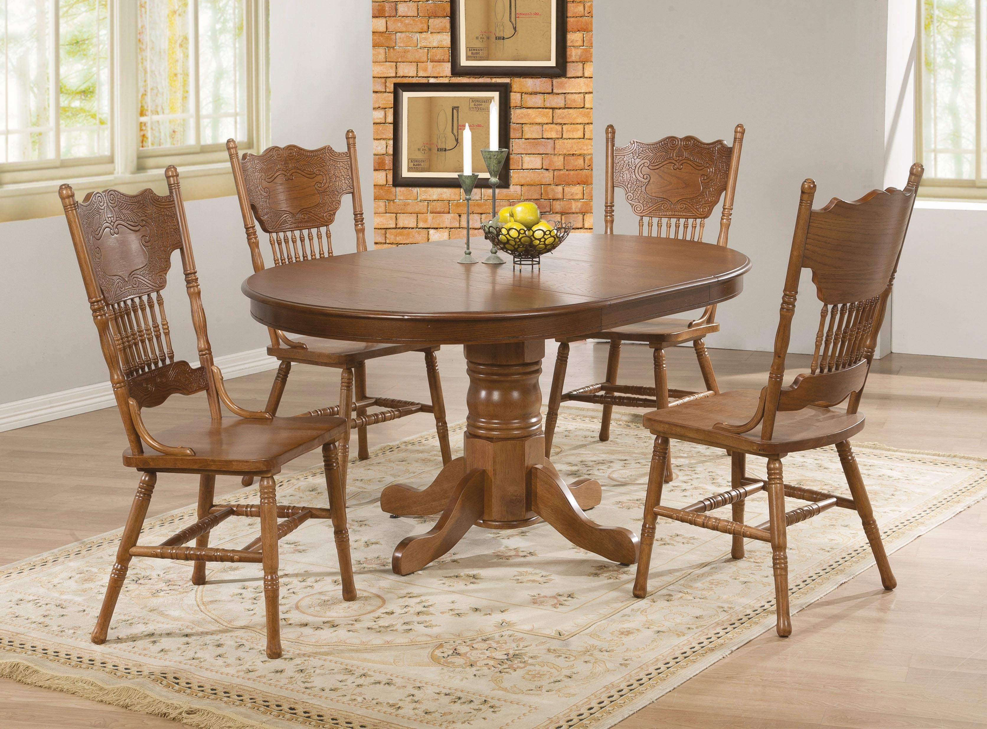 Latest Oak Round Dining Tables And Chairs Throughout Round Dining Table Htm Oak Oval Dining Table And Chairs As Glass (View 11 of 25)