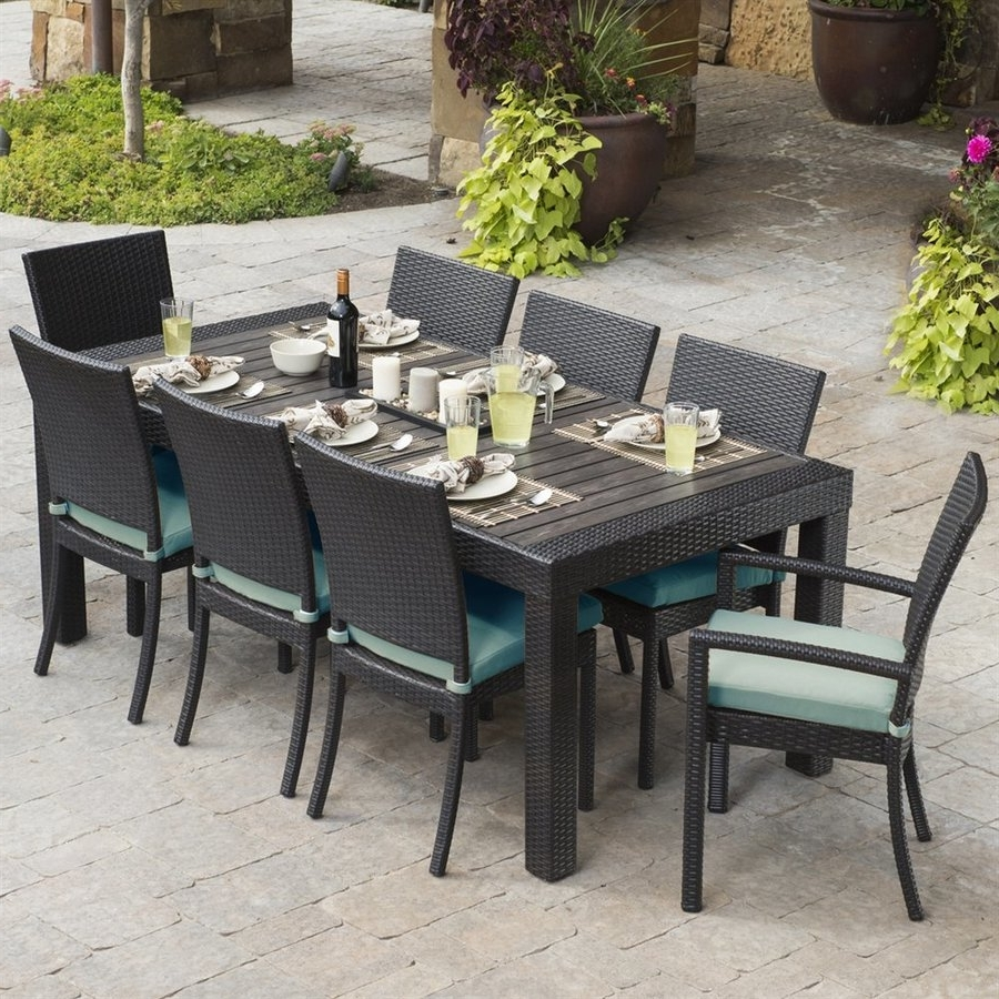 Latest Outdoor Dining Table And Chairs Sets Throughout Adorable Outdoor Table Chair Sets Patio Bar Rectangular Wood Dining (View 7 of 25)