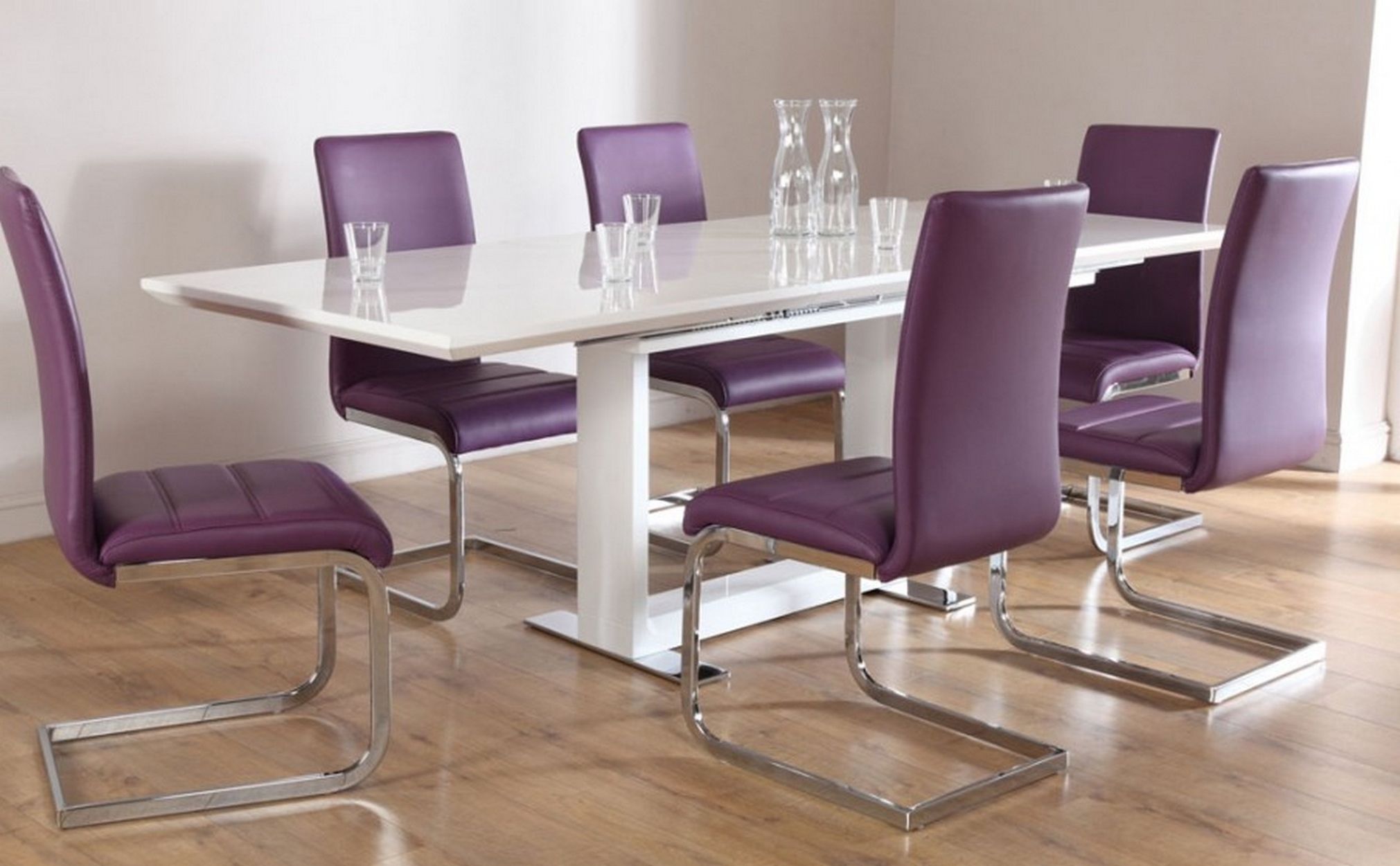 Latest Outstanding Small Dining Room Design With Rectangle White Acrylic In Small Extending Dining Tables And Chairs (View 19 of 25)