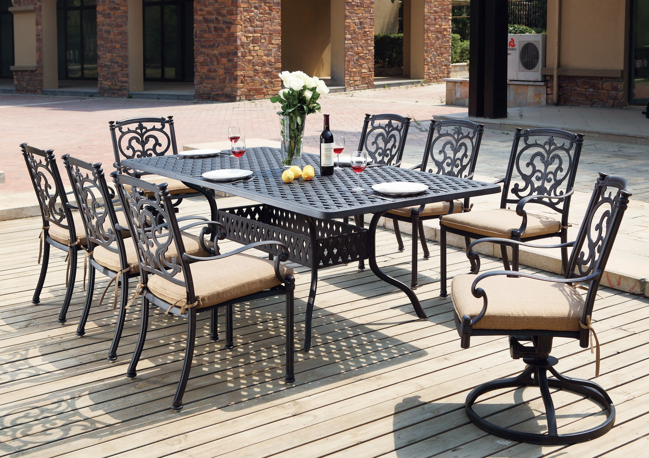 Latest Palazzo Rectangle Dining Tables For Astoria Grand Palazzo Sasso Traditional 9 Piece Dining Set With (View 8 of 25)