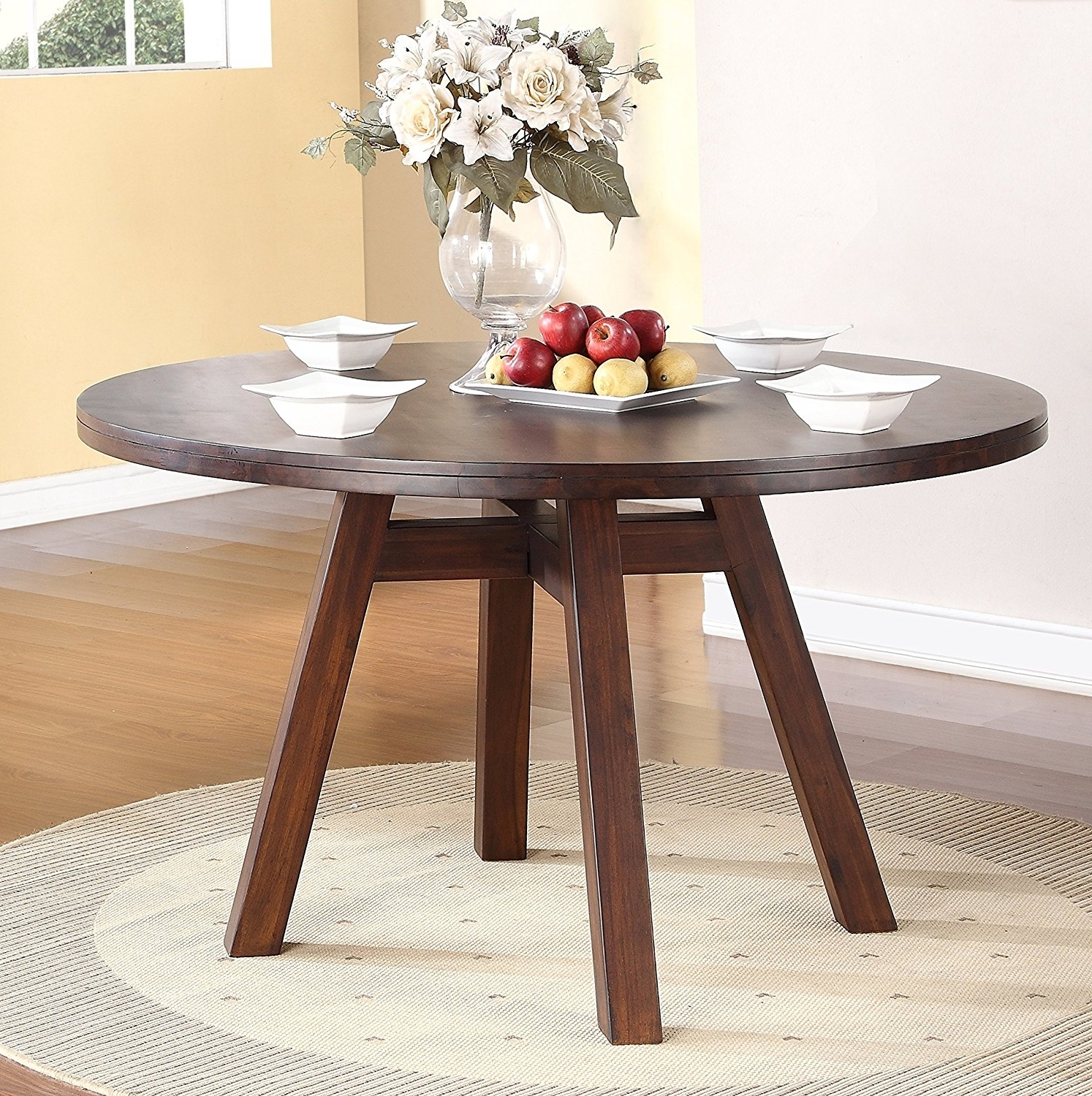 Latest Portland Dining Tables Regarding Portland Solid Wood Round Dining Table In Walnut – Shop For (View 7 of 25)