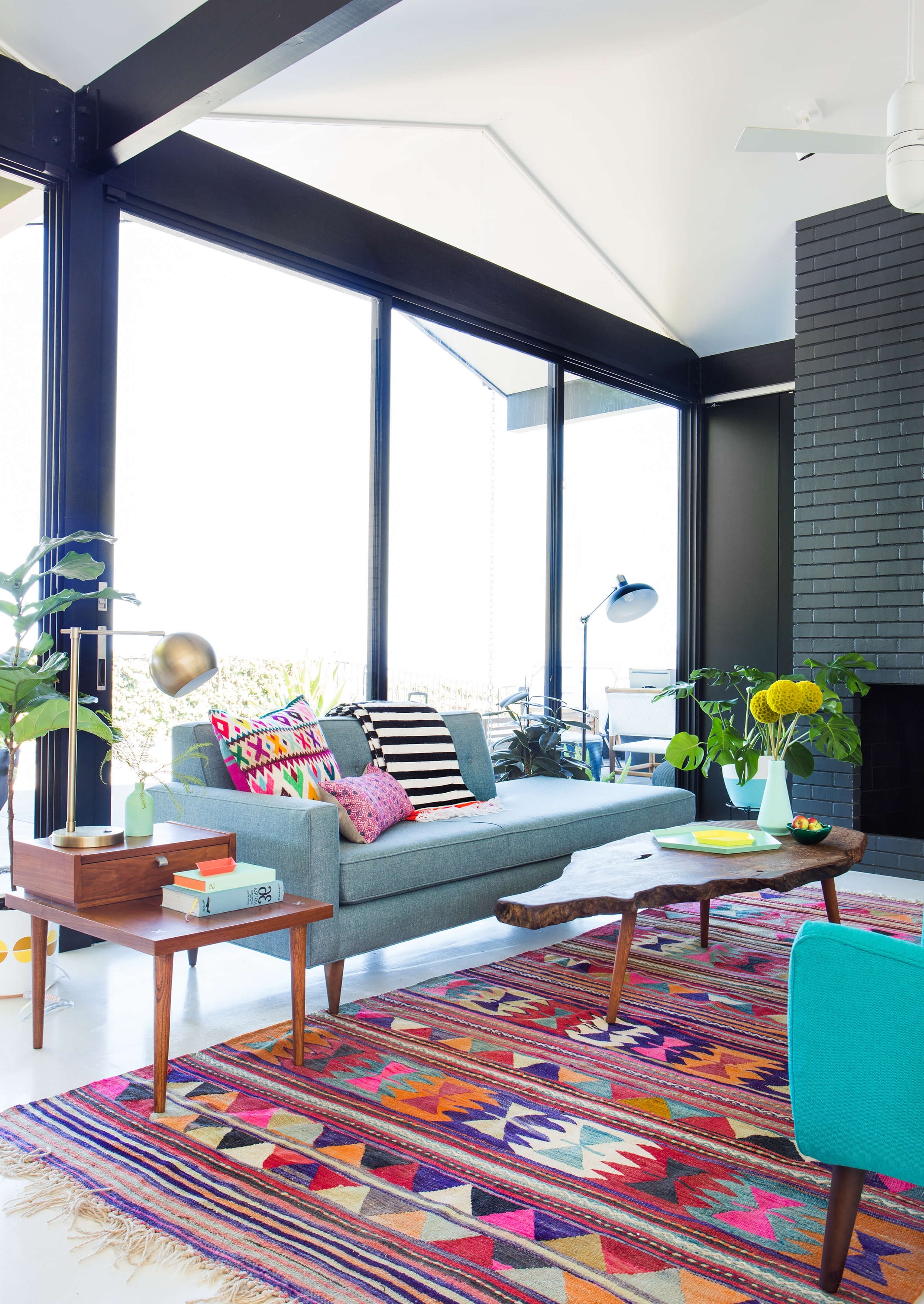 Latest Power Couples: Sofas And Coffee Tables – Emily Henderson With Regard To Wyatt 7 Piece Dining Sets With Celler Teal Chairs (View 11 of 25)