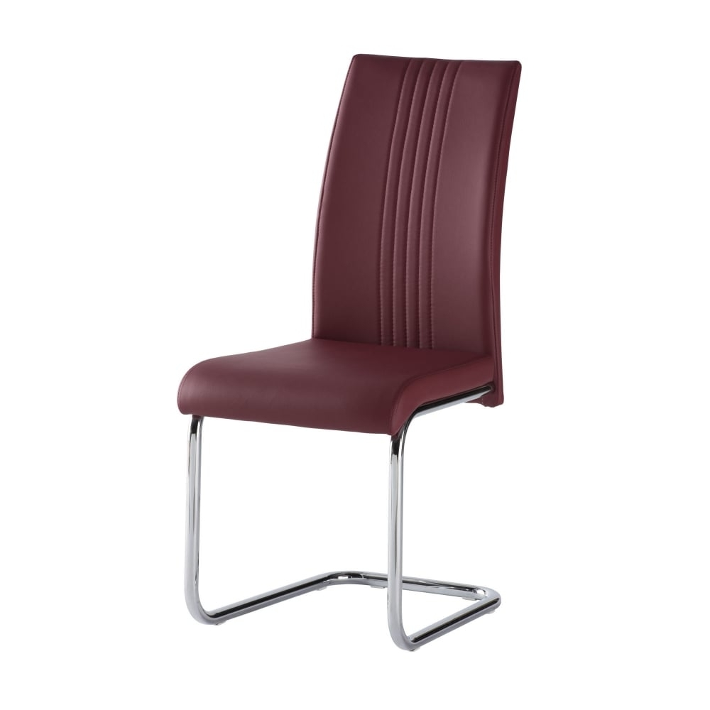 Latest Red Dining Chairs Regarding Monaco Red Dining Chair – Furniture From Delta House And Home Uk (View 12 of 25)