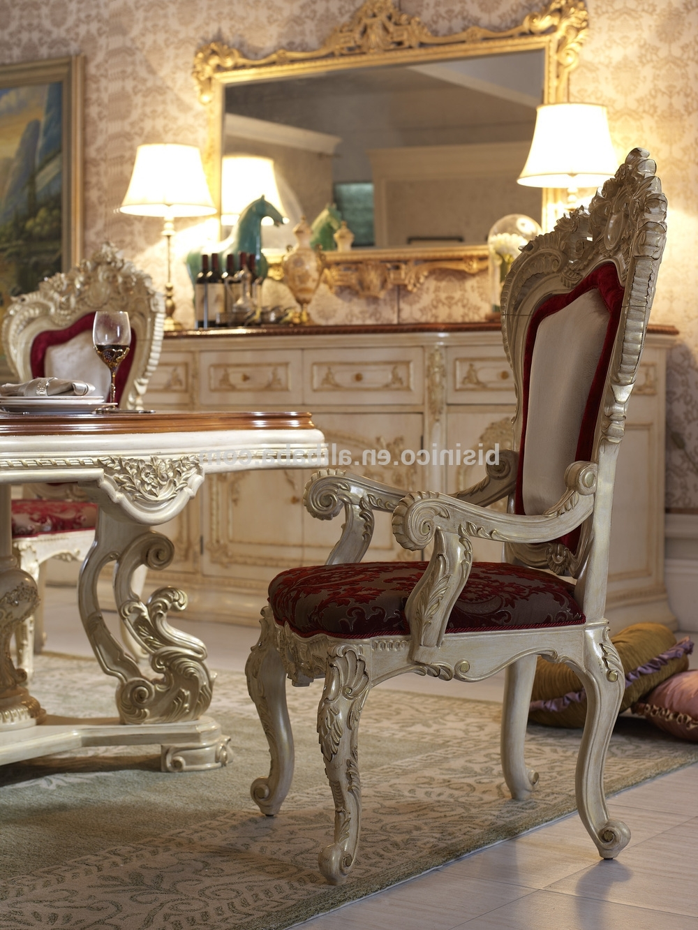 Latest Royal Dining Tables With Bisini Luxury Italian Style Dining Table,french Royal Dining Room (View 7 of 25)