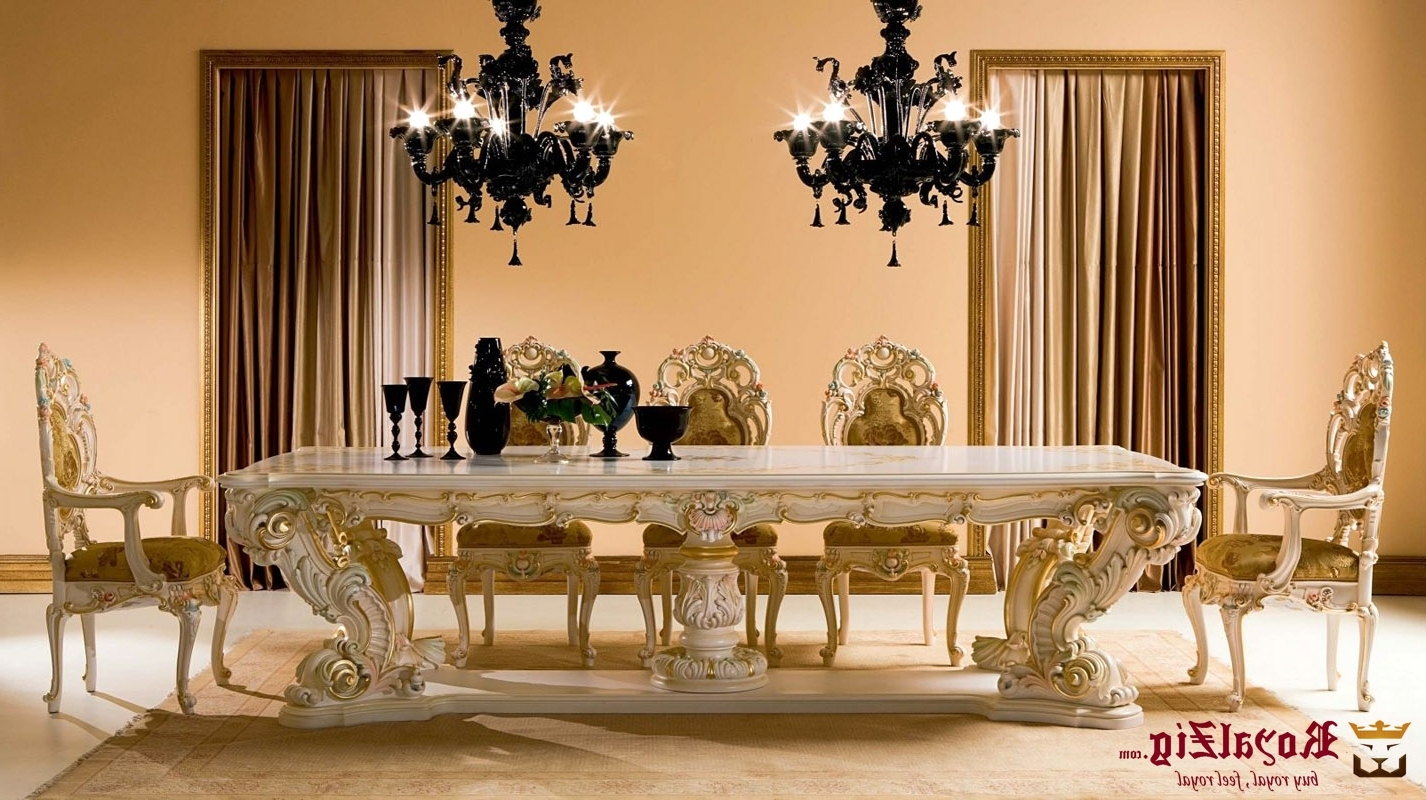 Latest Royal Dining Tables With Royal Dining Table Cream Colour (View 8 of 25)