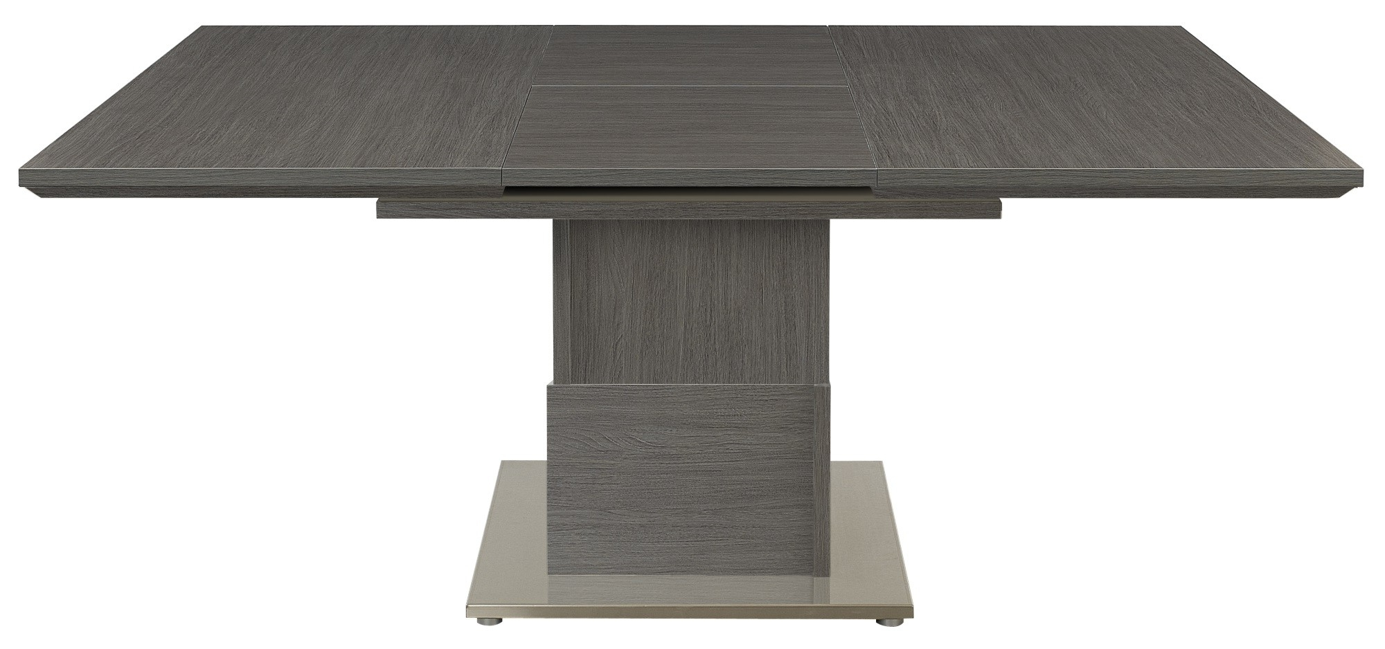 Latest Setis Grey Oak Square Extending Dining Table (View 6 of 25)