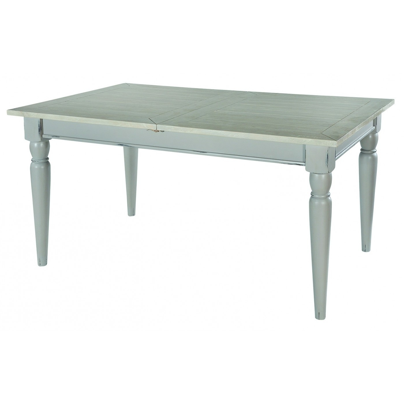 Latest Shabby Chic Extendable Dining Tables In Shabby Chic Grey / Ivory Extending Dining Table (View 24 of 25)