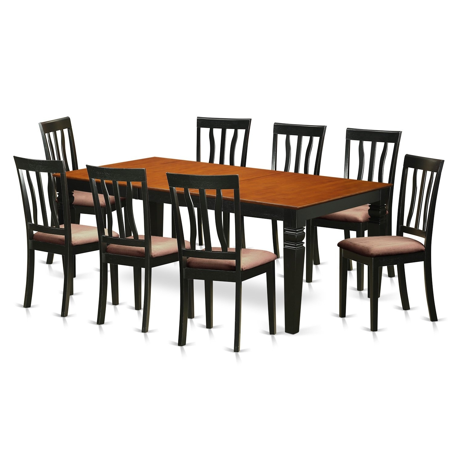 Latest Shop 9 Piece Dining Set With 1 Logan Dining Table And 8 Dining Regarding Logan Dining Tables (View 13 of 25)