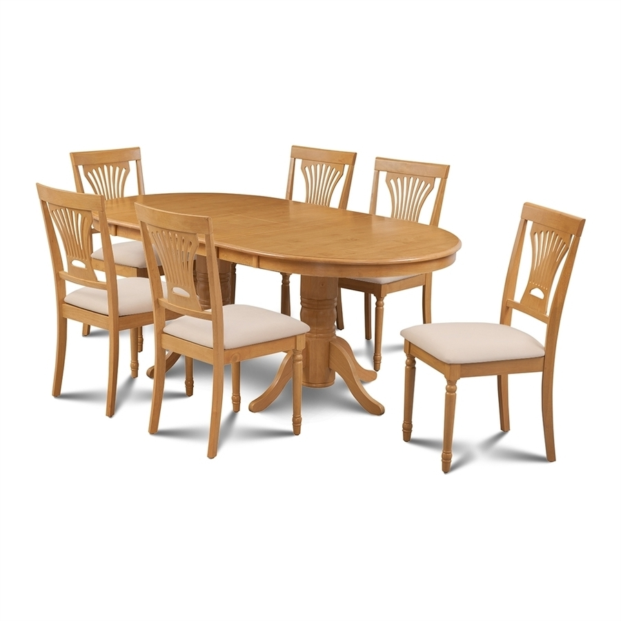 Latest Shop M&d Furniture Somerville Oak Dining Set With Oval Dining Table Pertaining To Cheap Oak Dining Sets (View 15 of 25)
