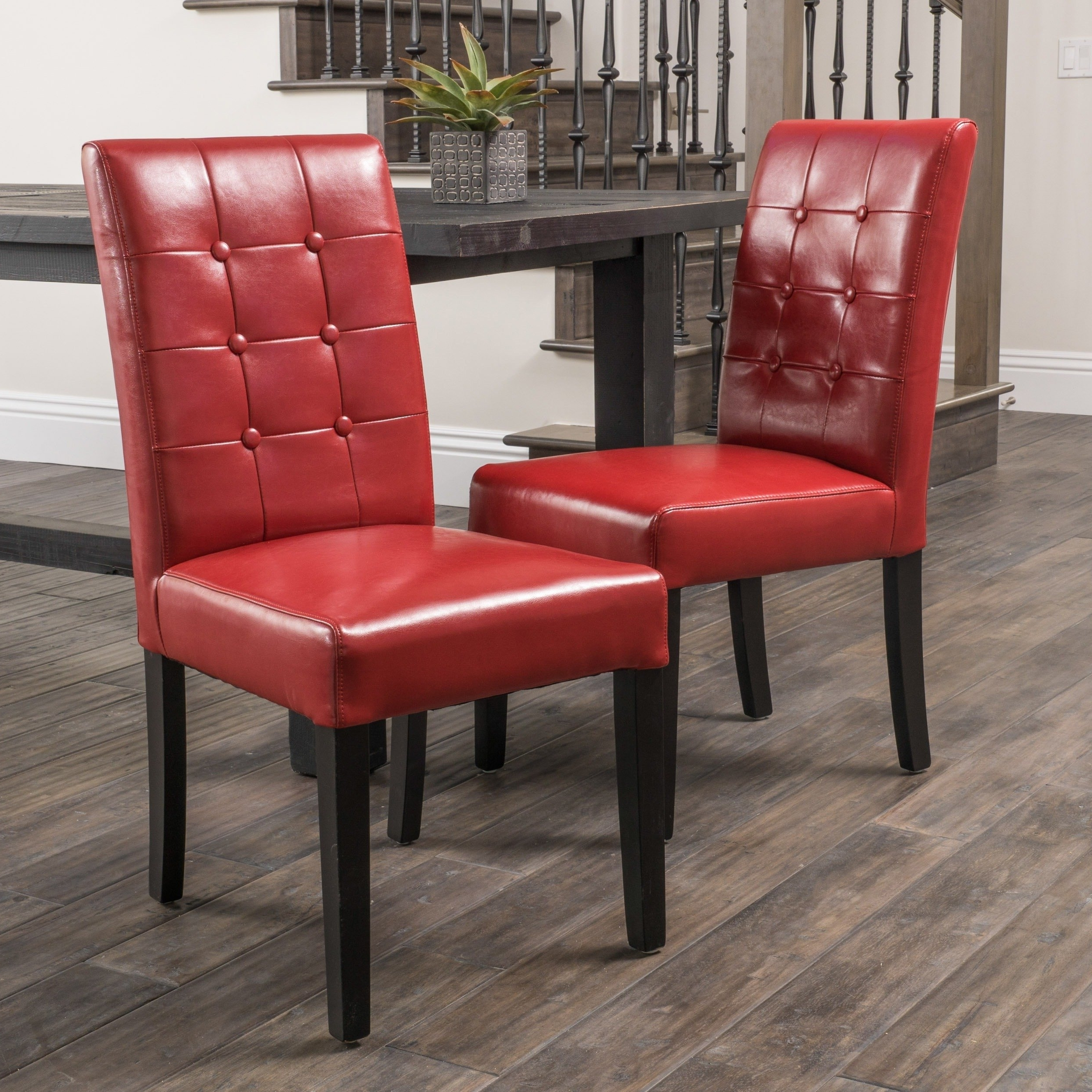 Latest Shop Roland Red Bonded Leather Dining Chairschristopher Knight With Regard To Red Leather Dining Chairs (View 8 of 25)