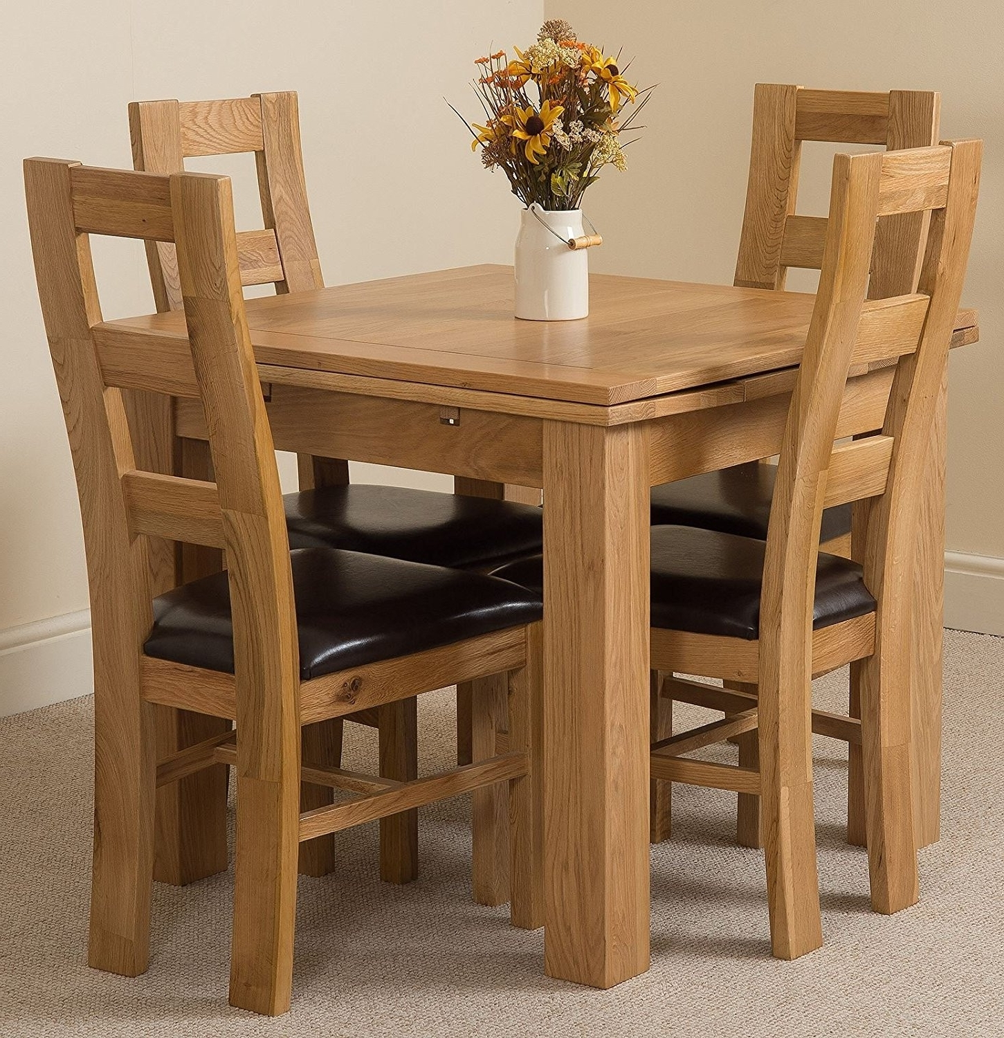 Latest Small Oak Dining Tables Pertaining To Small Extendable Dining Table – Furniture Ideas (View 12 of 25)