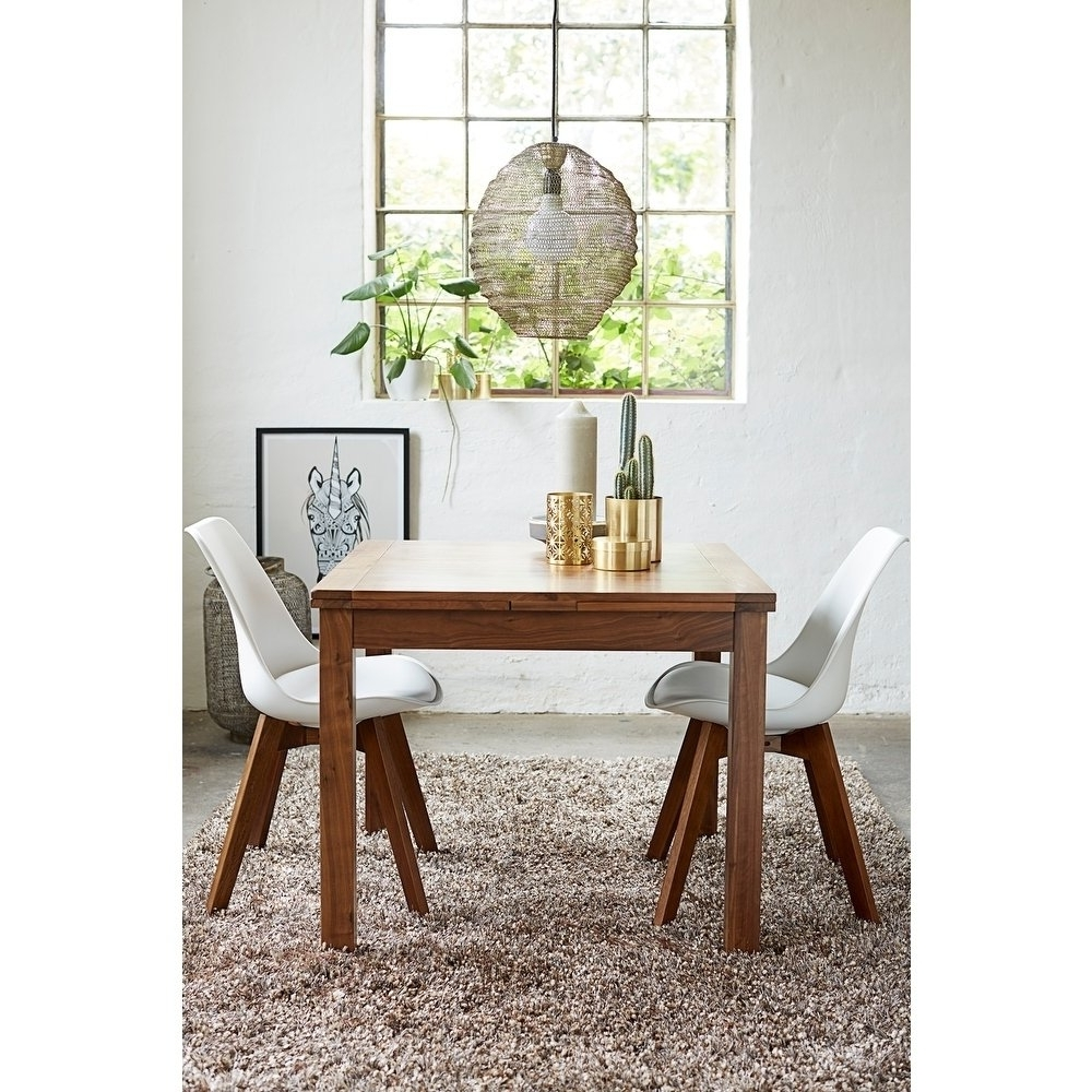 Latest Square Extendable Dining Tables Inside Shop Walnut Modern Square Extendable Dining Table – On Sale – Free (View 8 of 25)