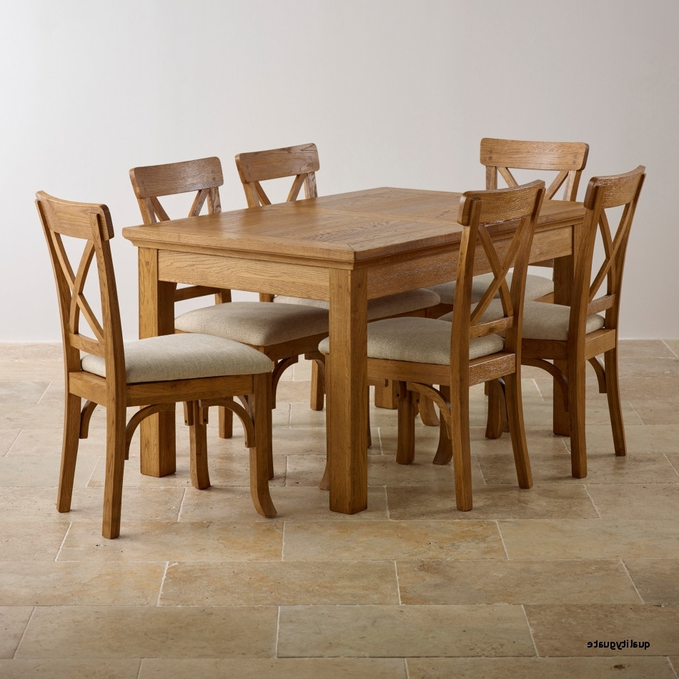 Latest Top 20 Unique Chunky Solid Oak Dining Table And 6 Chairs – Fernando Rees In Oak Dining Set 6 Chairs (View 2 of 25)