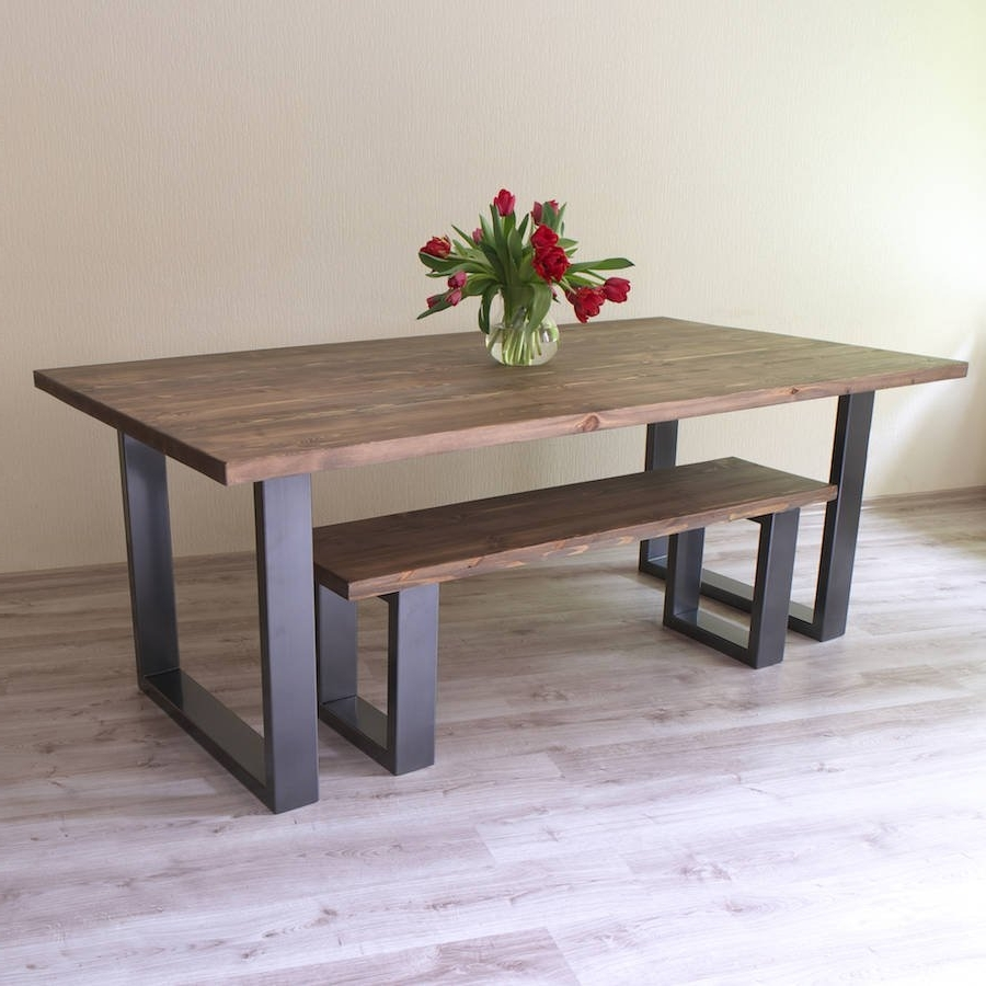 Latest U Shaped Legs Reclaimed Wood Dining Table Within Wood Dining Tables (View 11 of 25)