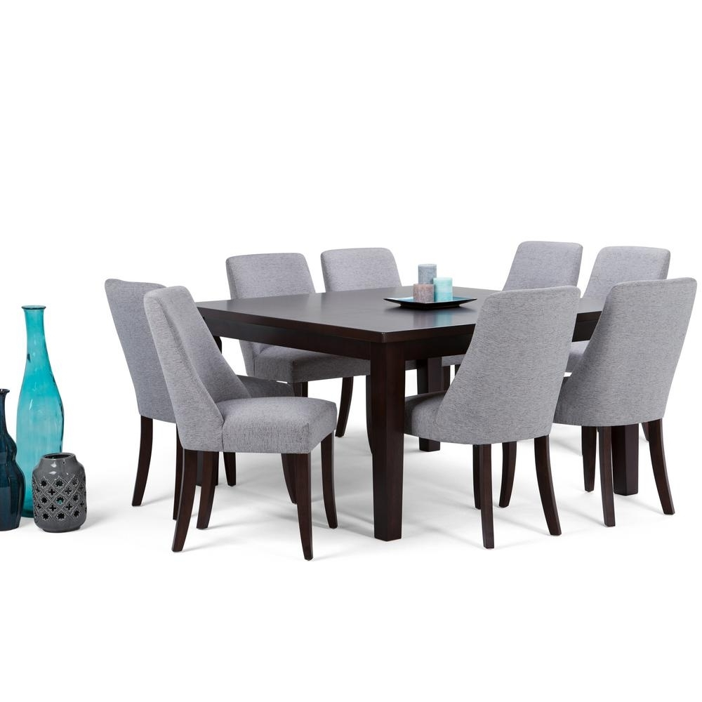 Latest Walden 9 Piece Extension Dining Sets Throughout Simpli Home Walden 9 Piece Java Brown Dining Set Axcds9Wa G – The (View 7 of 25)