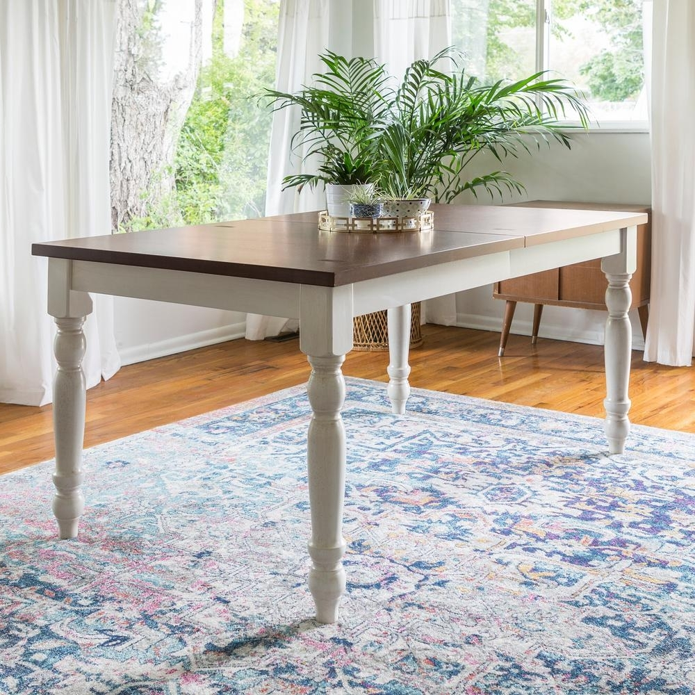 Latest Walker Edison Furniture Company Bourbon Extendable Dining Table Within White Extendable Dining Tables (View 13 of 25)