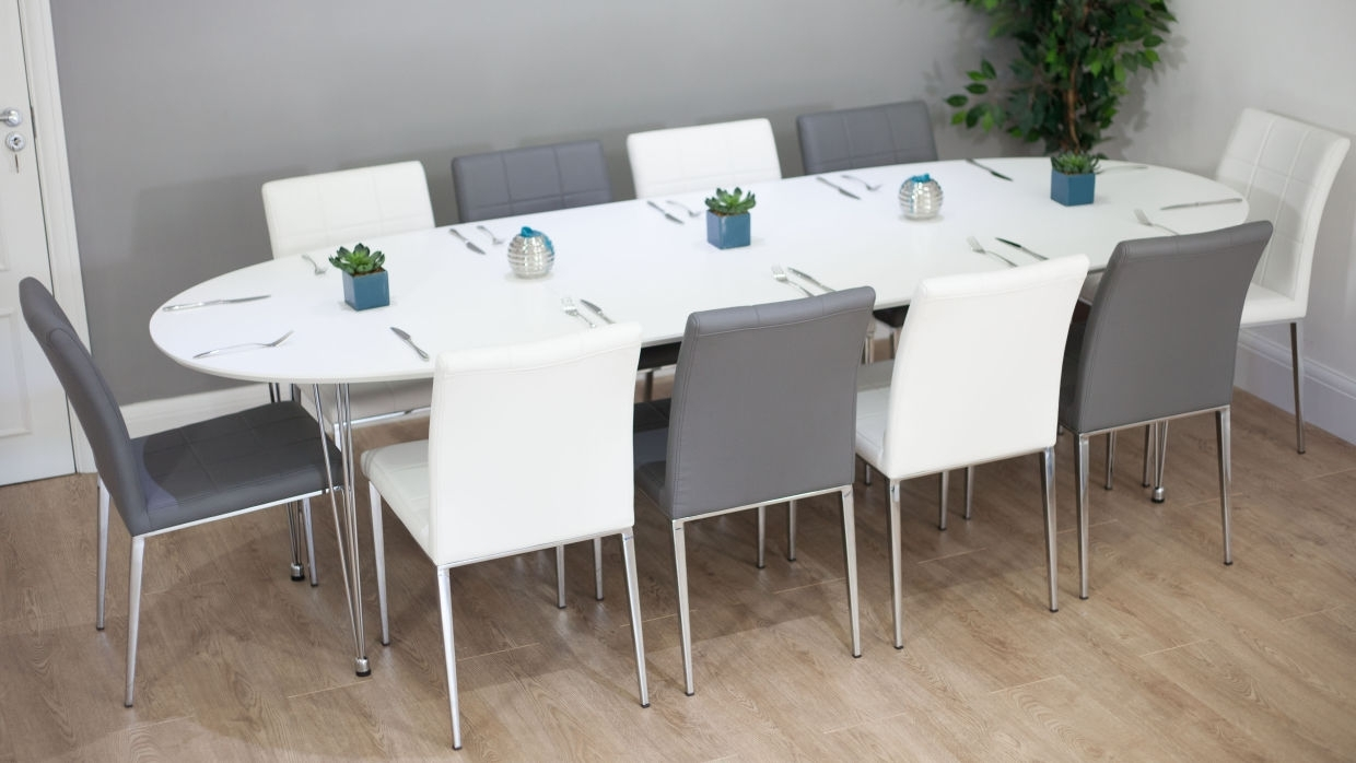 Latest White Dining Tables 8 Seater With 8 Seat Dining Room Table – Domainmichael (View 7 of 25)