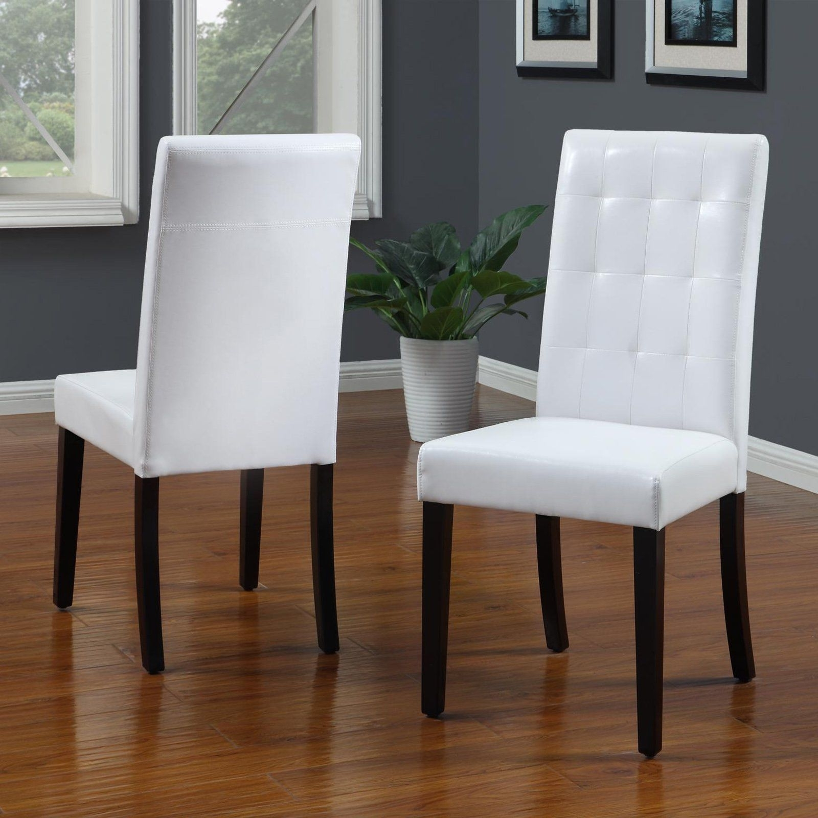 Latest White Leather Dining Room Chairs With Have To Have It (View 2 of 25)