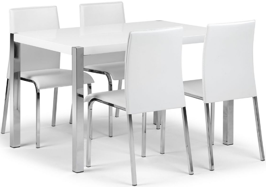 Latest White Melamine Dining Tables For Glamorous Rectangle White Gloss Solid Wood Dining Table Which Has (View 9 of 25)