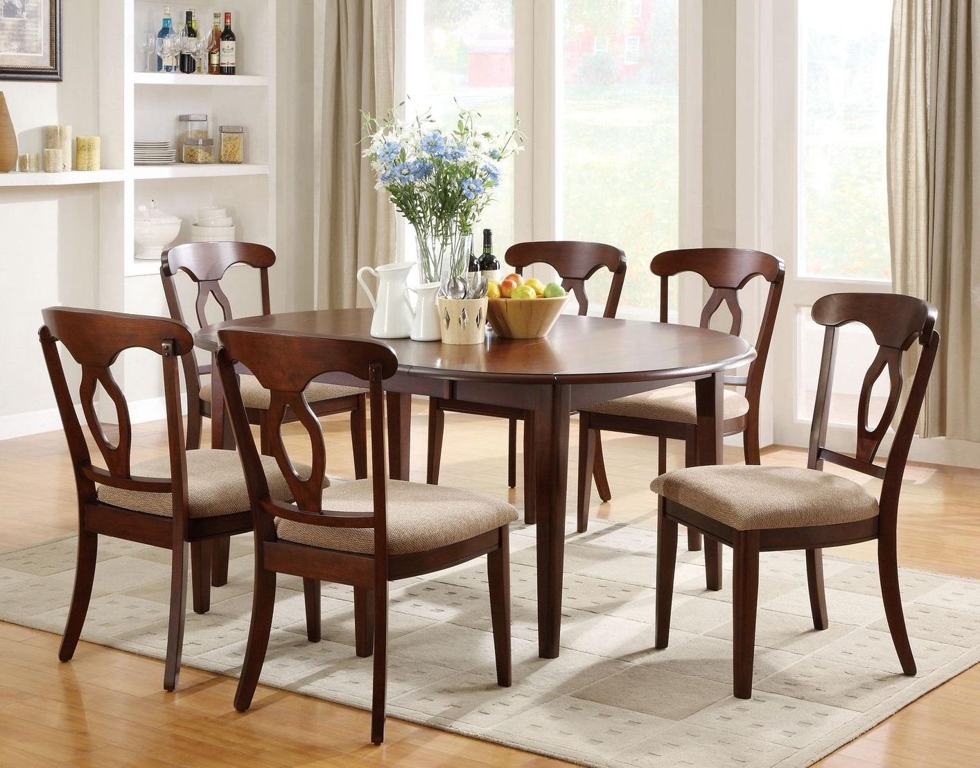 Latest Wooden Dining Room Chairs Decor — Bluehawkboosters Home Design With Regard To Dark Wood Dining Tables And Chairs (View 18 of 25)