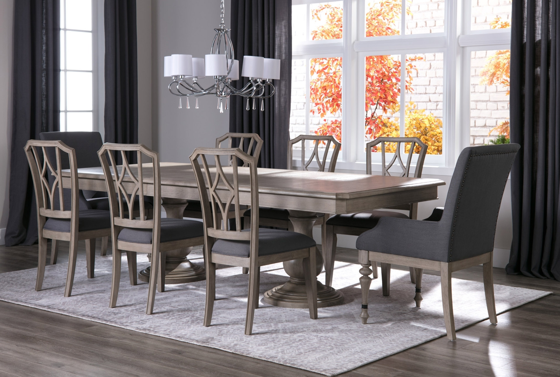 Lätt Bockbord Att Bygga, Rundstav Som Fixerar Planken, Lät With Well Known Caira 7 Piece Rectangular Dining Sets With Diamond Back Side Chairs (View 14 of 25)
