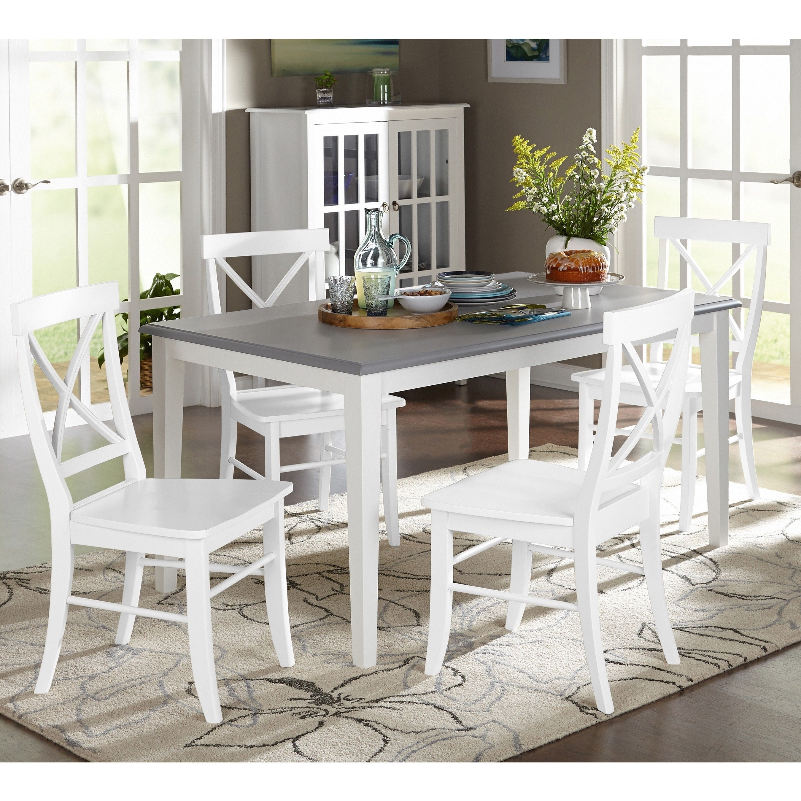 Laurent 5 Piece Round Dining Sets With Wood Chairs With Regard To 2018 Shop Simple Living 5 Piece Helena Dining Set – Free Shipping Today (View 15 of 25)