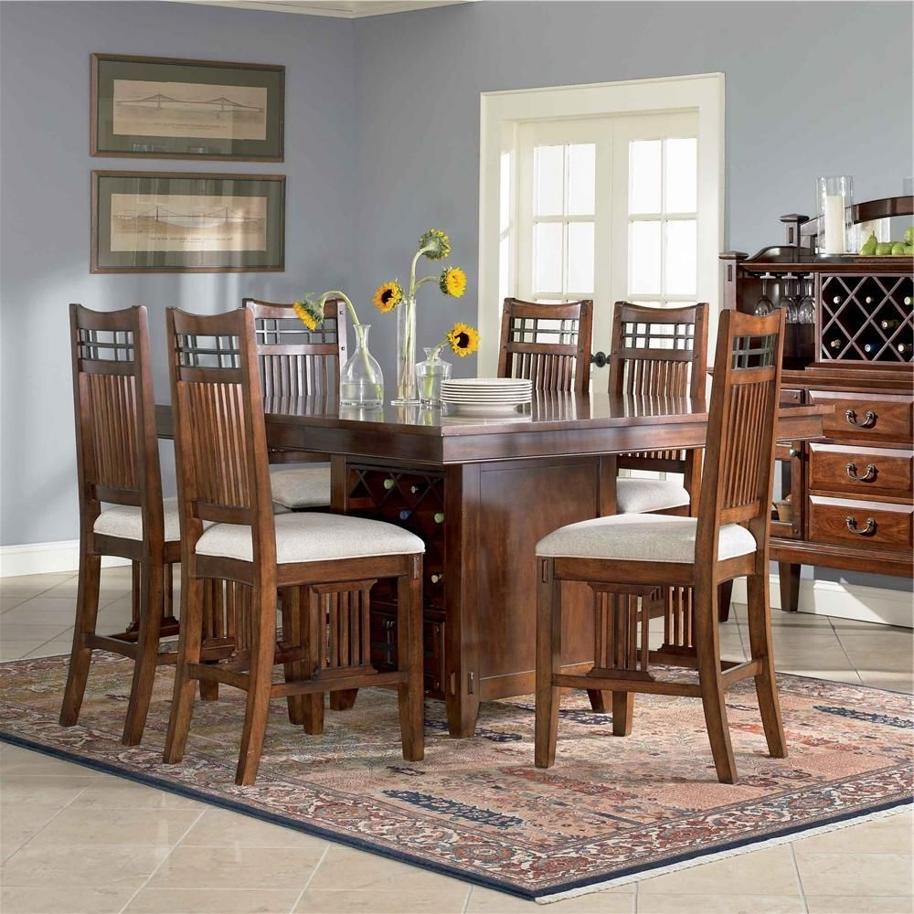 Laurent 7 Piece Counter Sets With Upholstered Counterstools With Well Known Vantana 7 Piece Pub Table Setbroyhill Furniture (View 10 of 25)