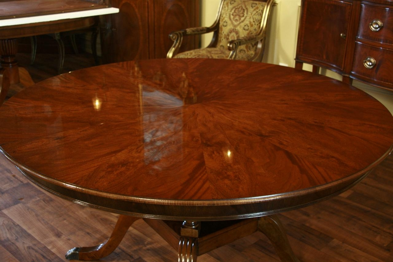 Laurent Round Dining Tables For Current Round To Oval Mahogany Dining Table (View 6 of 25)