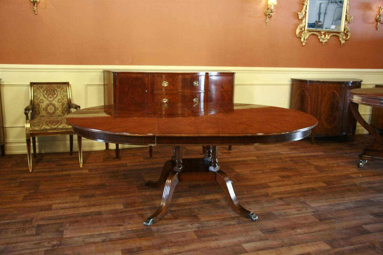 Laurent Round Dining Tables For Preferred Round To Oval Mahogany Dining Table (View 8 of 25)
