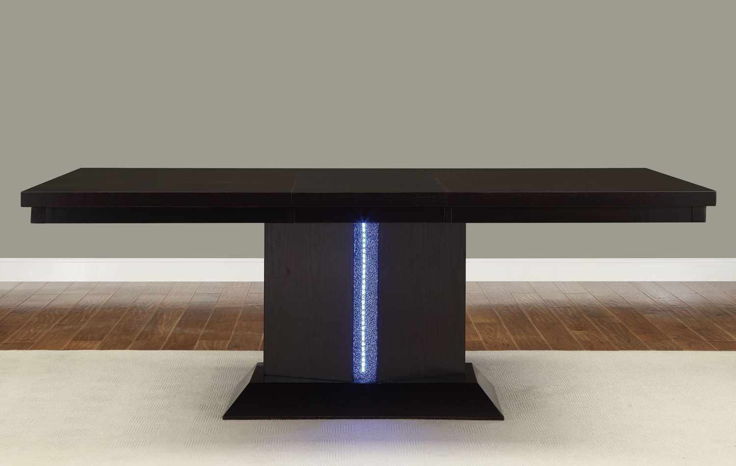 Led Dining Tables Lights Regarding Popular Homelegance Pulse Dining Table With Led Light – Espresso? 2579  (View 14 of 25)