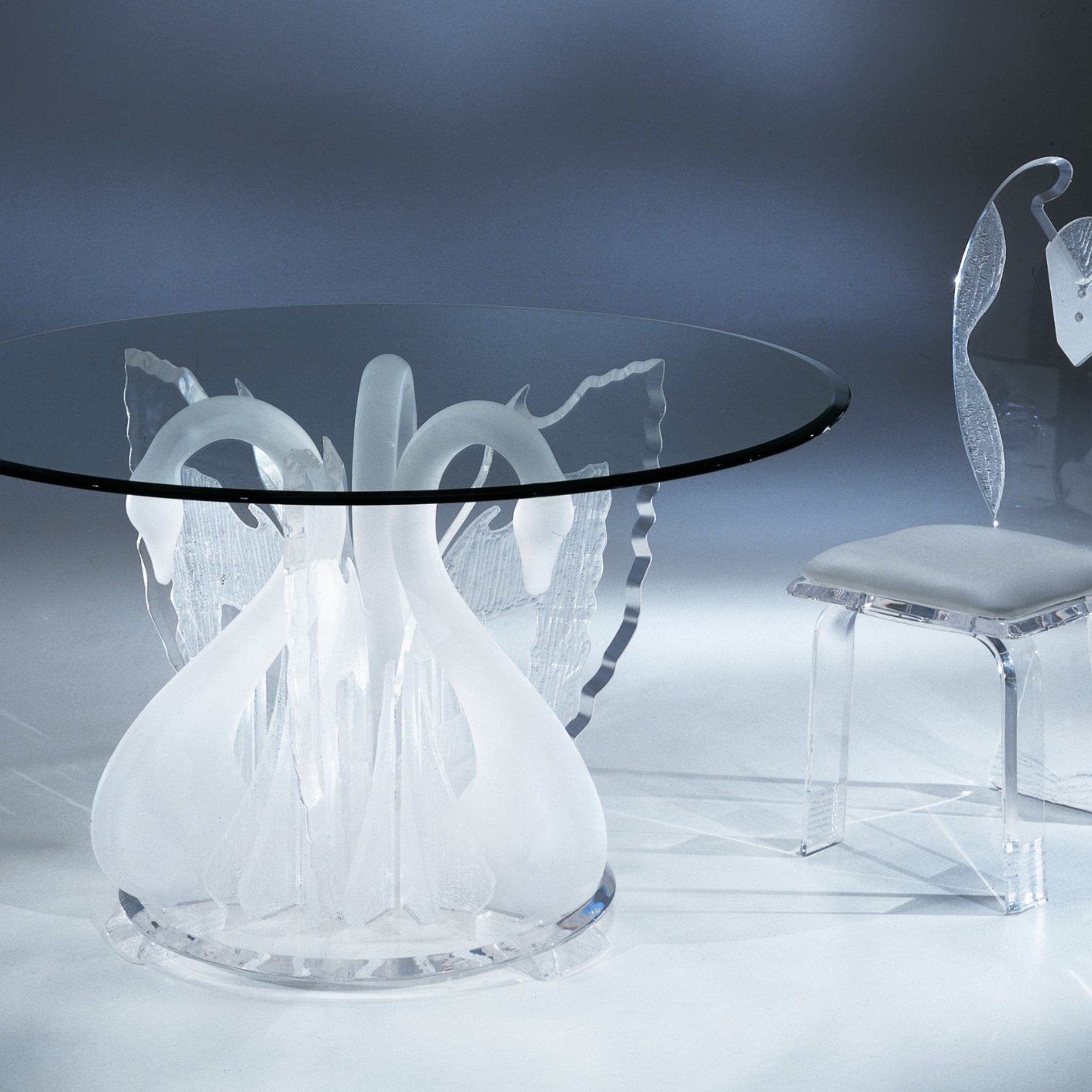 Legend Swan Dinette, Acrylic Wall Art, Acrylic Furniture In Well Liked Round Acrylic Dining Tables (View 7 of 25)