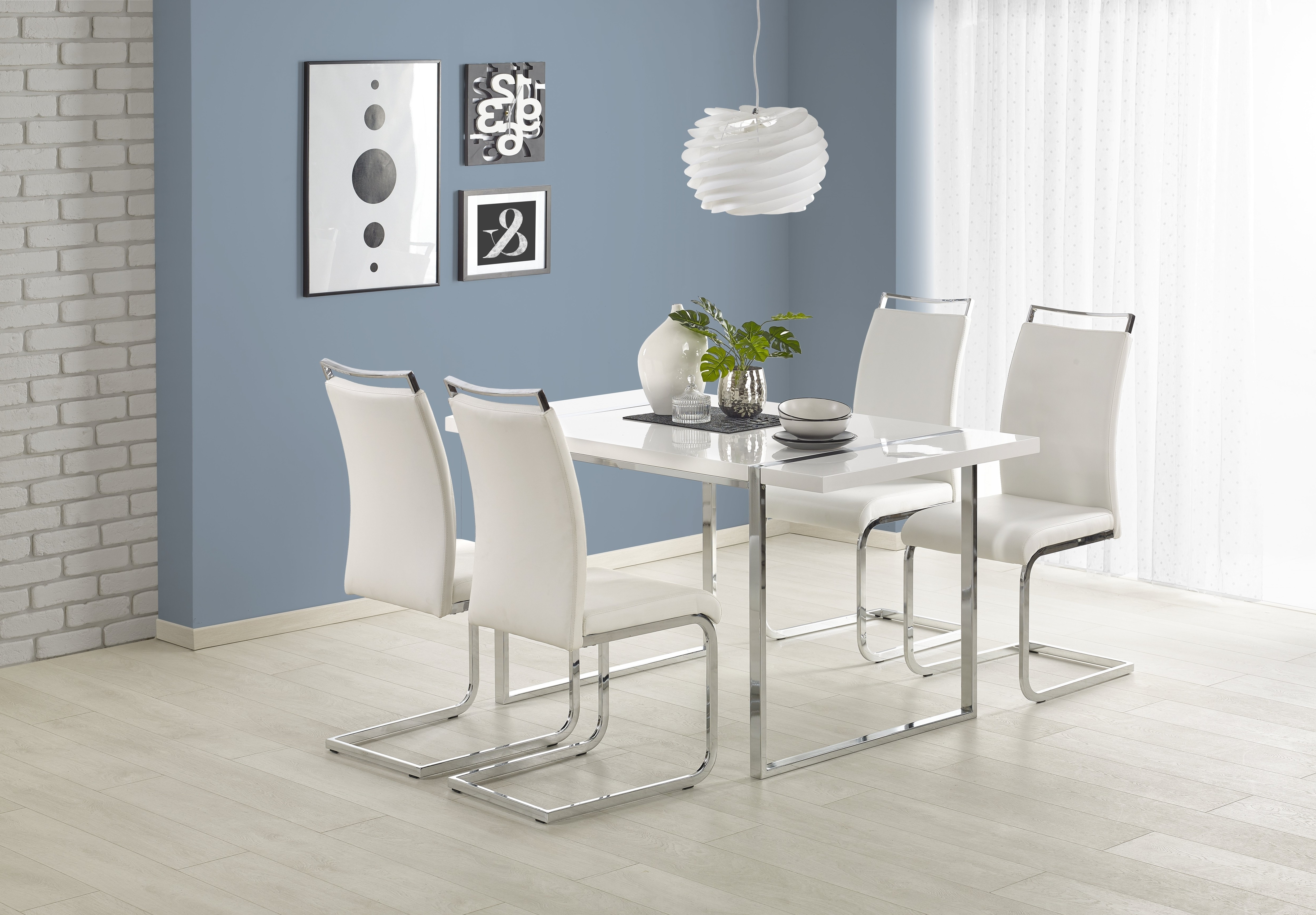 Leo High Gloss White Narrow Dining Table 140Cm Pertaining To Most Up To Date White Gloss Dining Tables 140Cm (View 7 of 25)