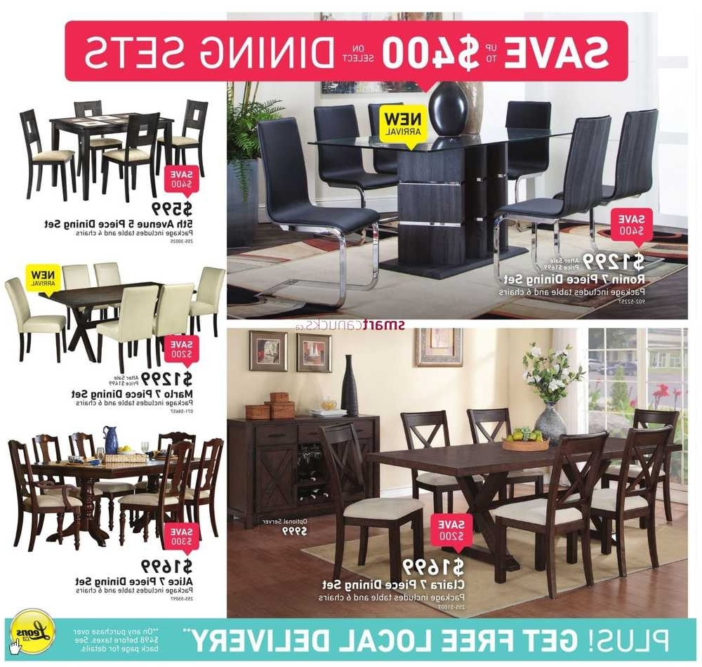 Leon 7 Piece Dining Sets Regarding 2018 Leon's Flyer April 20 To May  (View 11 of 25)