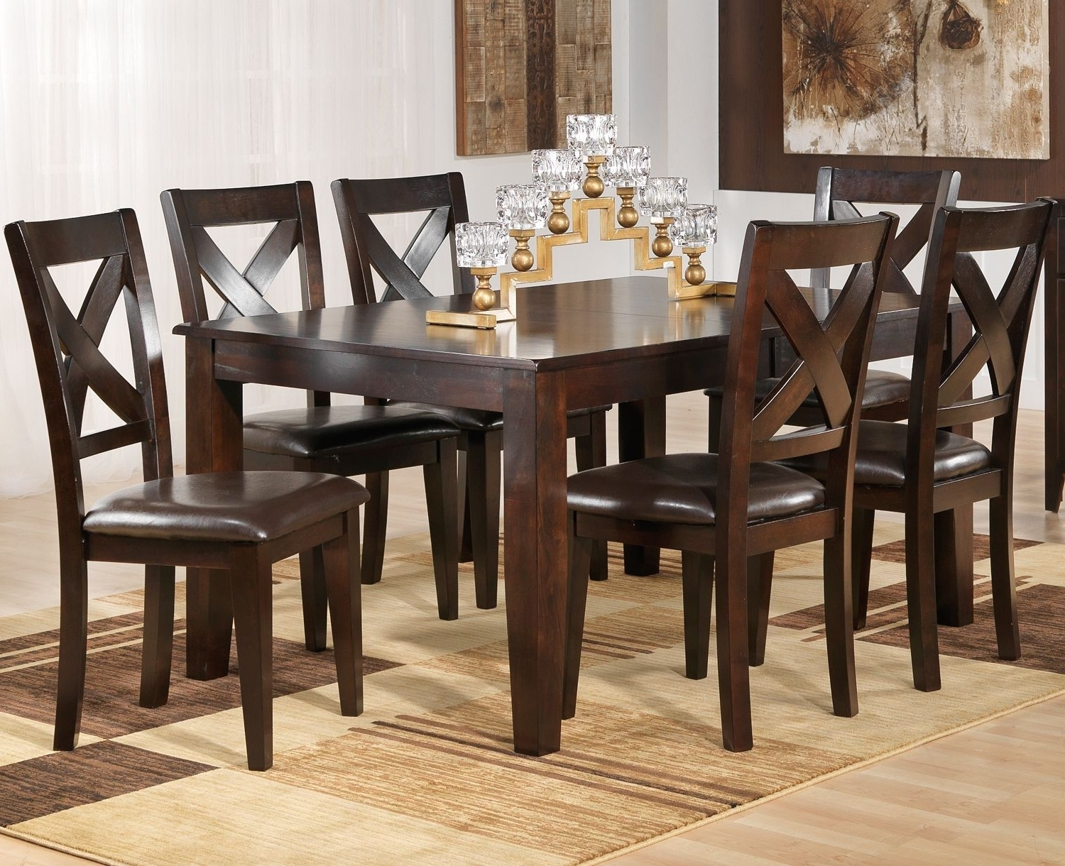 Featured Photo of Leon 7 Piece Dining Sets