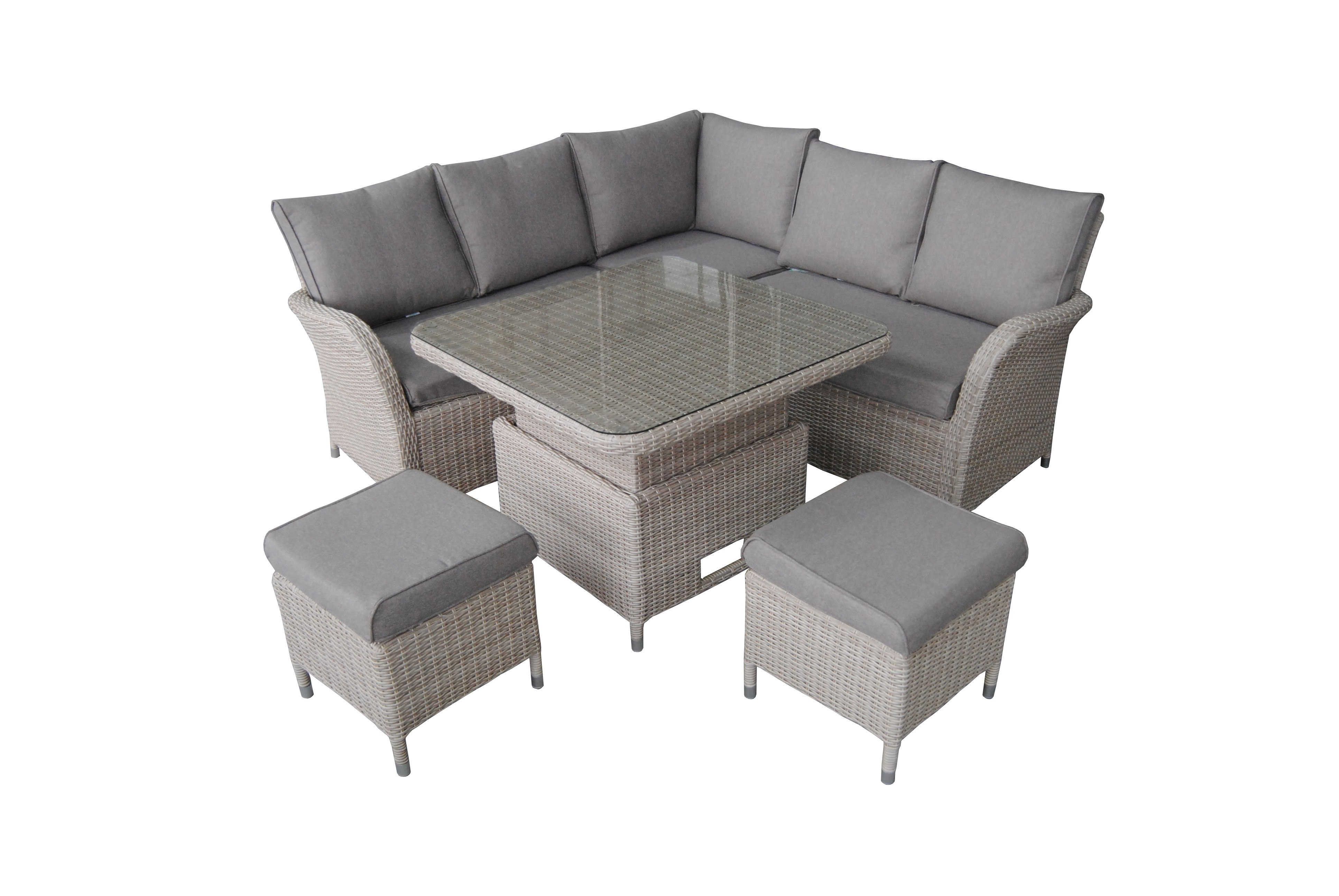 Lg Outdoor Monaco Compact Dining Modular With Adjustable Table (View 7 of 25)