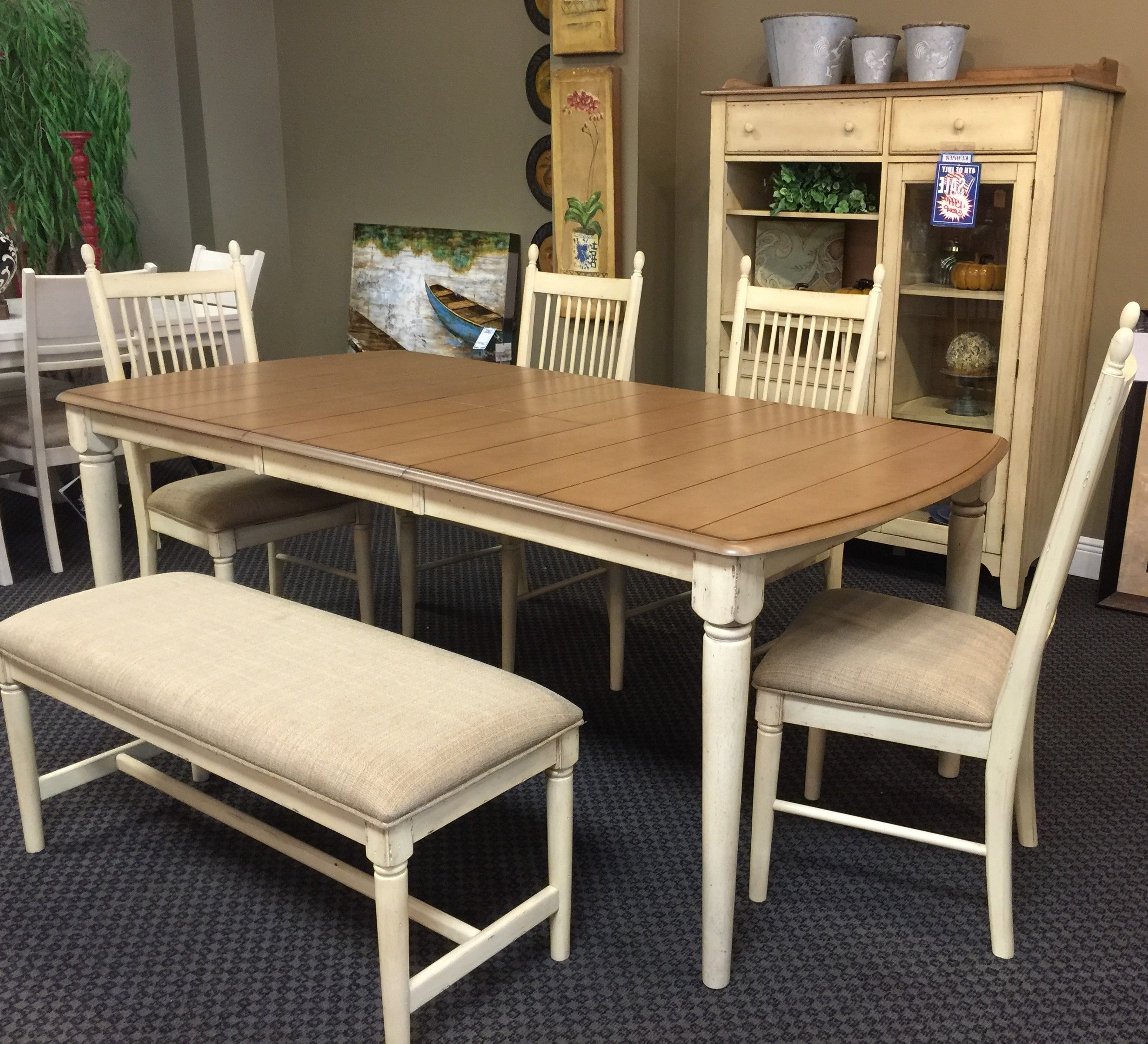 Liberty #157 Dining Table, Chairs, Bench, & Hutch (View 18 of 25)