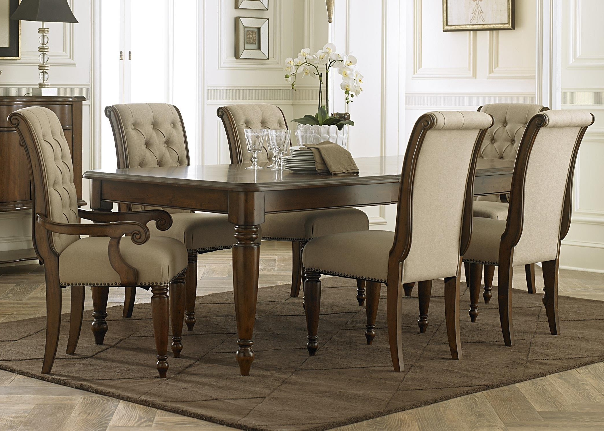 Liberty Furniture Cotswold 545 Dr 7Rls 7 Piece Rectangular Table Set Pertaining To Most Current Rectangular Dining Tables Sets (View 8 of 25)