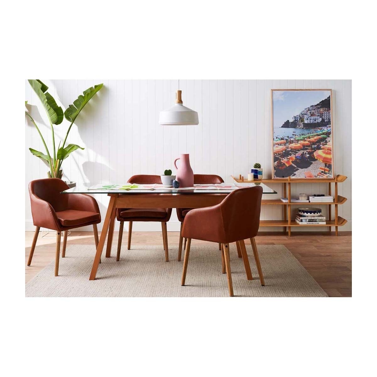 Life Interiors – Hudson Dining Chair (Tan Leatherette) – Modern With Regard To Well Known Hudson Dining Tables And Chairs (View 21 of 25)