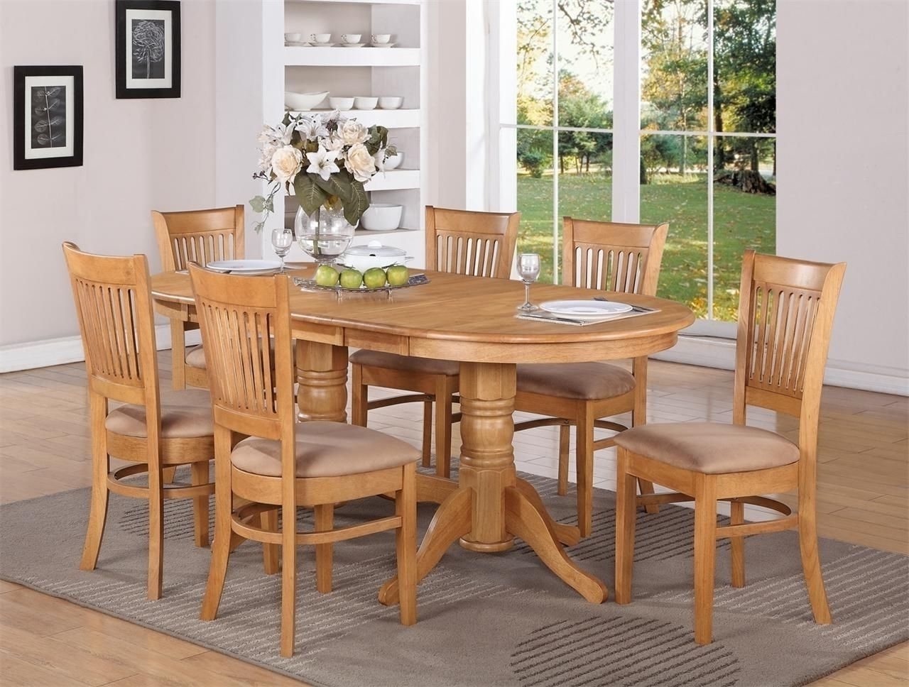 Light Oak Oval Kitchen Table (View 3 of 25)
