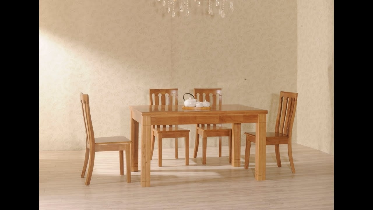 Light Wood Dining Chairs~Light Wood Dining Table And Chairs – Youtube For Most Up To Date Lighting For Dining Tables (View 23 of 25)