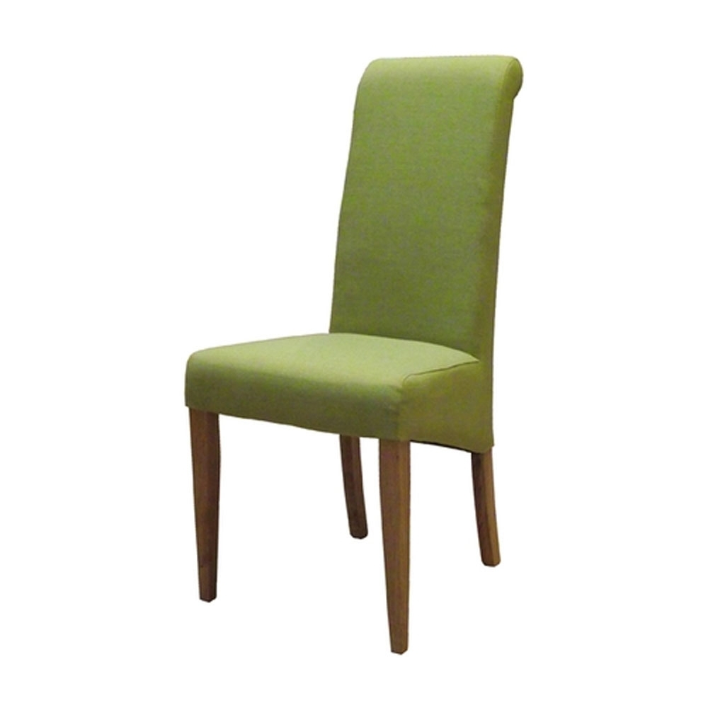 Lime Fabric Dining Chair  Oak Regarding 2017 Oak Fabric Dining Chairs (View 12 of 25)