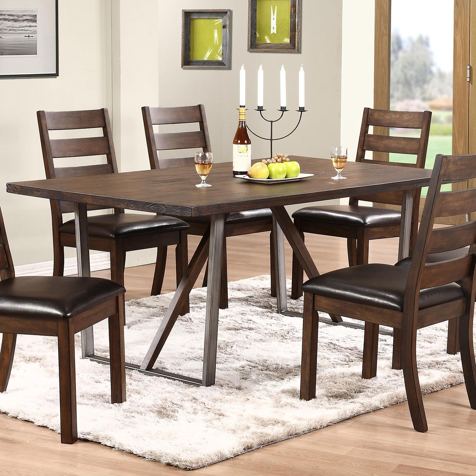 Lindy Espresso Rectangle Dining Tables With 2017 Winners Only Kendall Trestle Table With Metal Base (View 4 of 25)
