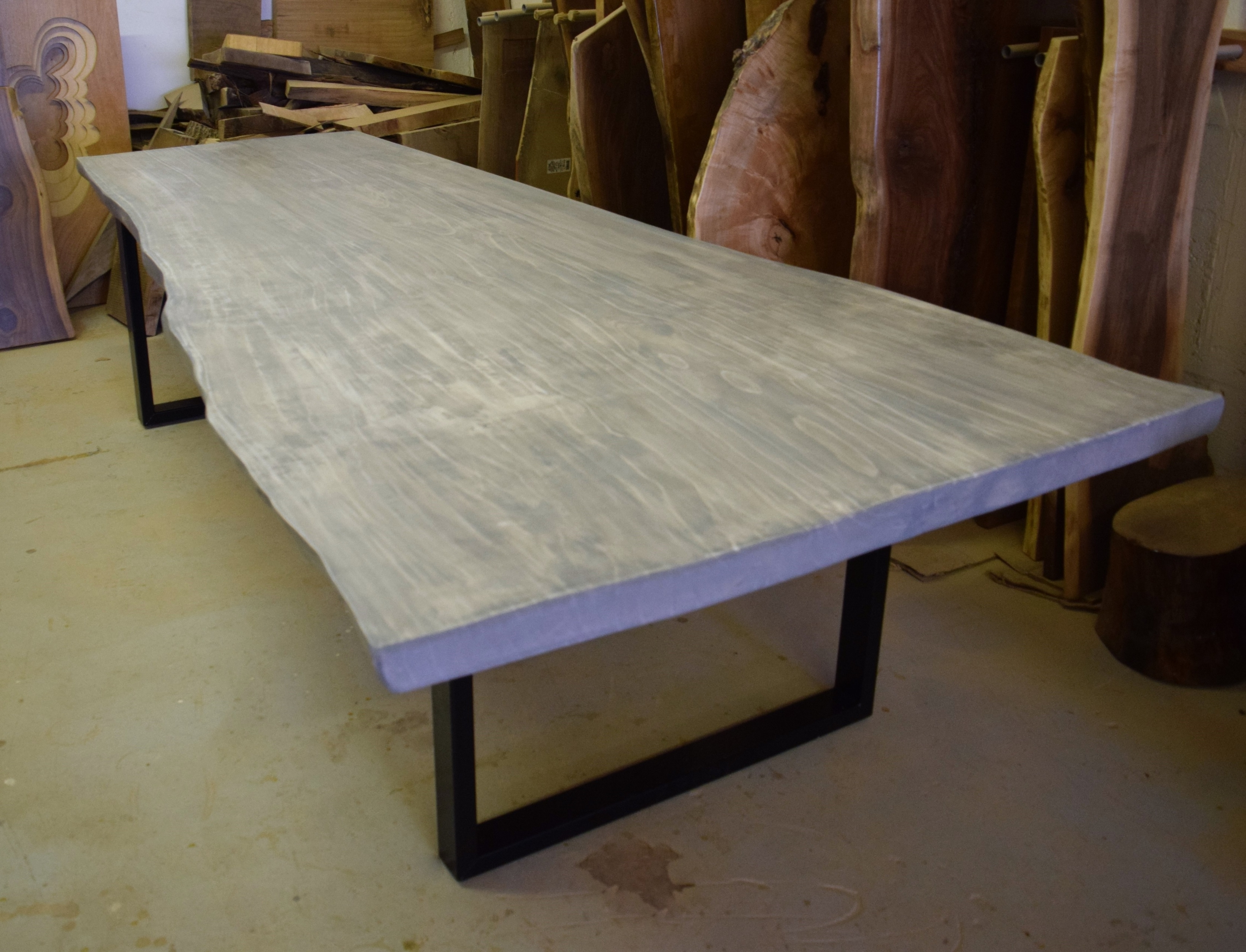 Live Edge Dining Table – Grey Dining Table Throughout Most Current Grey Dining Tables (Gallery 21 of 25)
