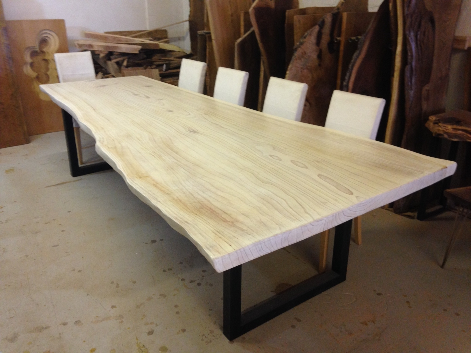 Live Edge Dining Table – White Dining Table – Redwood Intended For Fashionable White Dining Tables (View 10 of 25)