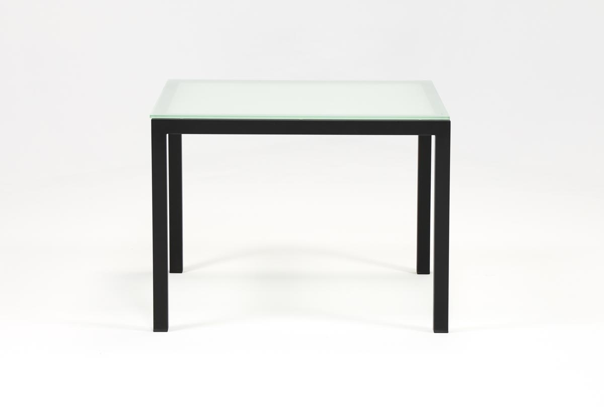 Featured Photo of Ina Matte Black 60 Inch Counter Tables With Frosted Glass
