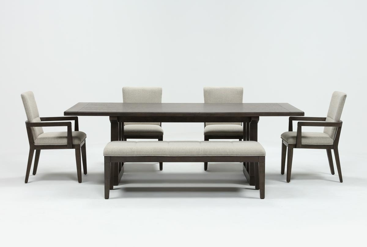 Featured Photo of Helms 6 Piece Rectangle Dining Sets