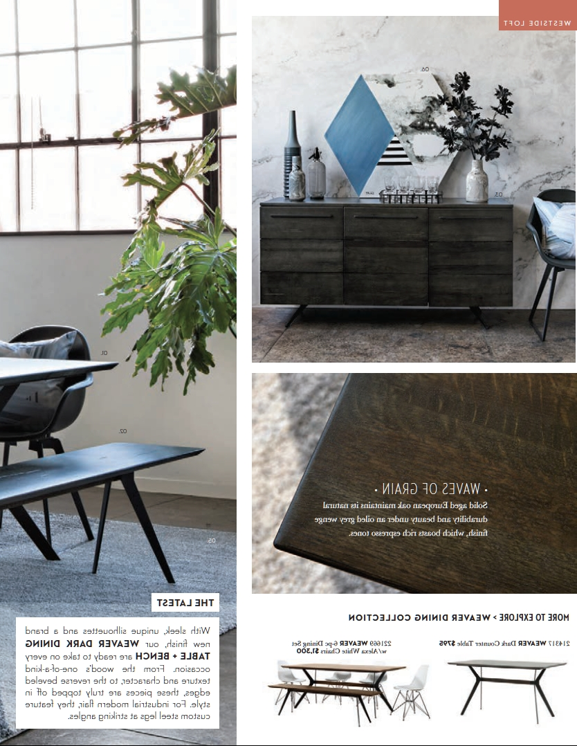 Living Spaces Catalog: Spring 2018 — Hudson Loft With Well Liked Weaver Dark 7 Piece Dining Sets With Alexa White Side Chairs (View 11 of 25)